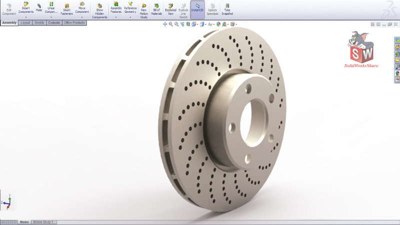 How to design Brake disc in SolidWorks-SolidWorks Share.jpg