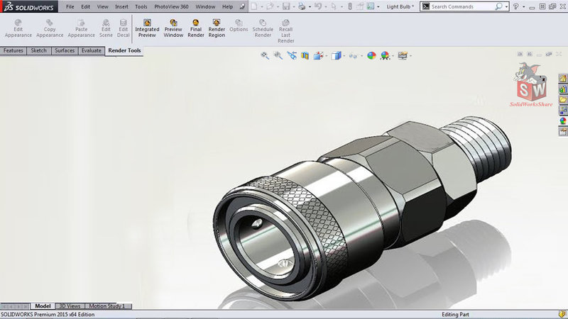 How to designl an Air quick coupler in SolidWorks-Solidworks share.jpg